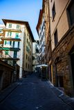 Old street and buildings , Florence. Old street and apartment buildings, Florence, Italy Stock Photo