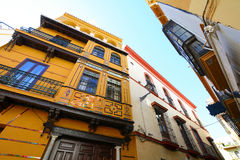 Old street and buildings in Seville. Old street and buildings in the city of Seville, Portugal Stock Image