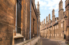 Old street in Cambridge city Royalty Free Stock Images