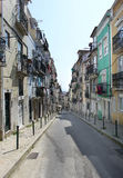 Old street in the center of Lisbon city Royalty Free Stock Images
