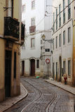Old street in the center of Lisbon Stock Photography