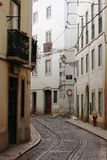 Old street in the center of Lisbon Royalty Free Stock Photography