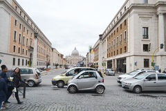 Old street in center of Rome Stock Images