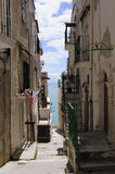Old street in the center of Vieste Stock Image