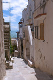 Old street in the center of Vieste Royalty Free Stock Images