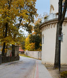 Old street in Cesis, Latvia, Europe Royalty Free Stock Photo