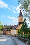 Old street in Cesis, Latvia Stock Images