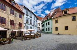 Old street in Cesky Krumlov, Czech republic Stock Image