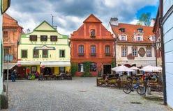 Old street in Cesky Krumlov, Czech republic Royalty Free Stock Photos
