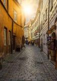 Old street in Cesky Krumlov, Czech Republic Stock Images