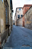 Old street in the city of Lucca Royalty Free Stock Image