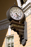 Old street clock. Arch of the Main Staff. Saint-Petersburg Stock Photography