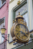 Old street clock in the old center of Nijmegen Royalty Free Stock Image