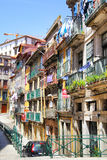 Old street with colorful houses Stock Image
