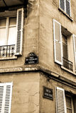 Old street corner in Montmartre, Paris Royalty Free Stock Photo