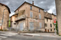 Old street corner in a Southern French town royalty free stock image