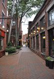 Old Street from Downtown of Portsmouth in New Hampshire of USA Royalty Free Stock Images