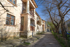 Old street in downtown of Sevastopol. Royalty Free Stock Photography