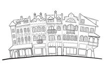 Old street royalty free illustration