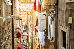 Old street in Dubrovnik Royalty Free Stock Photography