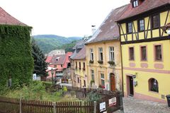 Old street. In Europe in Czech Republic Stock Photography