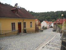 Old street. In Europe in Czech Republic Royalty Free Stock Images