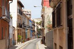 Old street in european city. Alicante Stock Image