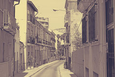 Old street in european city. Alicante Stock Photos