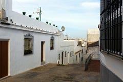 Old street in european city. Arcos de la Frontera Stock Photography