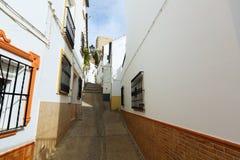 Old street in european city. Olvera Stock Image