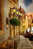 Old street of european town Royalty Free Stock Images