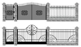 Old street fences and gates Stock Photography