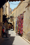 Old street in Fez, Morocco Royalty Free Stock Images