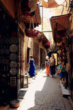 Old street in Fez, Morocco Royalty Free Stock Photos