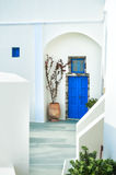 Old street in Fira town. Stock Photography