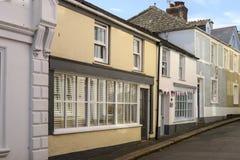 Old street at Fowey, Cornwall Royalty Free Stock Photo