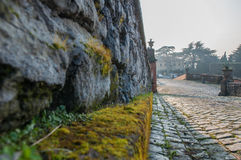 Old street. In frascati town rome Royalty Free Stock Photo