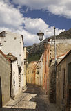 Old street in Galtelli. Sardinia. Italy Royalty Free Stock Photos