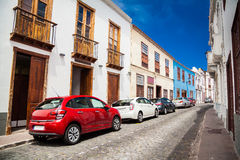 Old street in Garachico Town royalty free stock images
