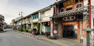 Old Street, George Town, Penang, Malaysia Royalty Free Stock Photo