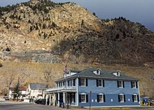 Old street in Georgetown. GEORGETOWN, COLORADO, UNITED STATES - OCTOBER 28,2017:Oldest streets the historic Town and business district  of Georgetown, Colorado Royalty Free Stock Photography