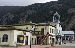 Old street in Georgetown. GEORGETOWN, COLORADO, UNITED STATES - OCTOBER 28,2017:Oldest streets the historic Town and business district  of Georgetown, Colorado Stock Images
