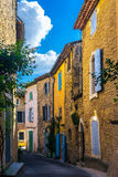 Old street in Goult, typical village of Provence in France Royalty Free Stock Image