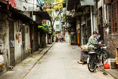 old street in guangzhou China Stock Image