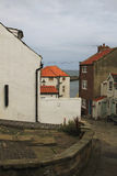 Old street in a harbourside village, North Yorkshire Royalty Free Stock Images