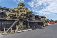 Historical city Takayama, Japan. Old street of historical city Takayama, Japan royalty free stock images