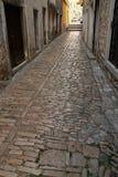 Old street. Historical street in Croatia. Stone bricks in Vodice stock photo
