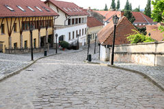 Old street and houses Eger Stock Photography