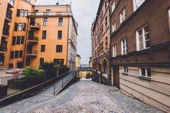 Free Old Street In Sodermalm, Stockholm. Stock Photo - 91501770
