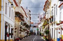 Old Street In Vila Vicosa Village Stock Photography